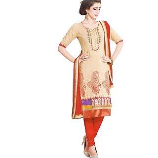 Premium Cotton Rajwadi Work Un-stitched Dress Material - 75032664
