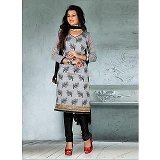 Vastrani Grey & Black Coloured  Salwar Kameez 193D1024