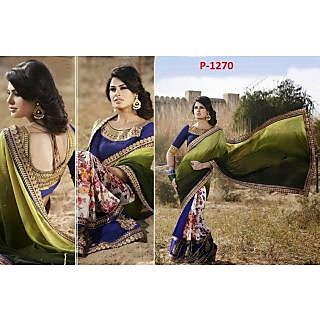 Designer Georgette Printed Saree - Online Shopping For Bollywood Sarees