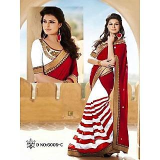 Gorgeous Red Designer Saree Nk Lerya