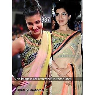 Shruti & Sanmatha Tusser Queen Both Were Awesome Designer Saree