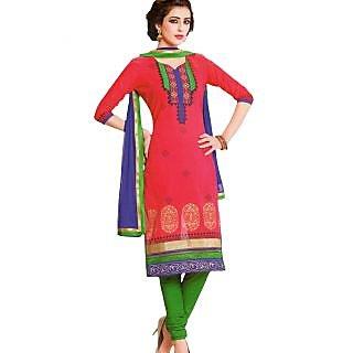 Premium Cotton Rajwadi Work Un-stitched Dress Material - 75033732