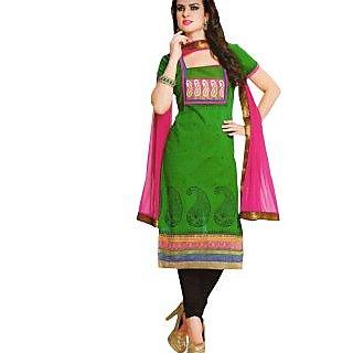 Premium Cotton Rajwadi Work Un-stitched Dress Material - 75036036