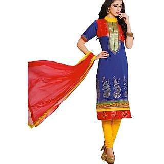 Premium Cotton Rajwadi Work Un-stitched Dress Material - 75036196
