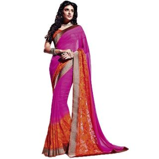 Radhika Chiffon Border Saree With Blouse Piece