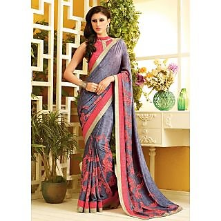 RnLush3142 Bollywood Designer Collection By Chiffon Saree With Silk Blouse.