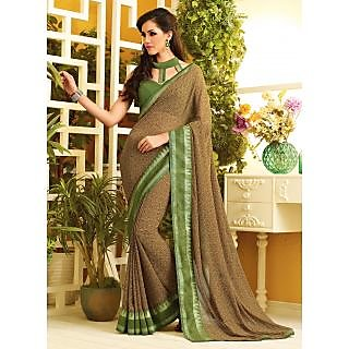 RnLush3143 Bollywood Designer Collection By Chiffon Saree With Silk Blouse.