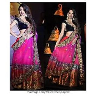 Richlady Fashion Malaika Arora Net Border Work Pink Lehnga Choli