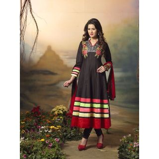 Designer Anarkali Salwar Suit,Semi Stitched Dress Material, Heavy Embroiery