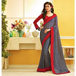 RnLush3146 Bollywood Designer Collection By Chiffon Saree With Silk Blouse.