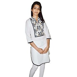 Glambing Embroidery Designer Kurti For Women
