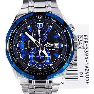 Casio Edifice Stopwatch Chronograph Black Dial Men's Watch - EFR-539D