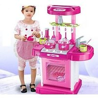 Small Kitchen Cook Set Toy Kids Play With Light Sound