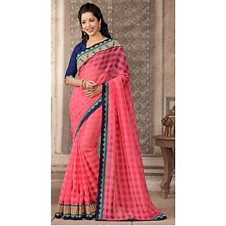 Shop Avenue Pink Bhagalpuri Silk Zari Saree (WGS05040)