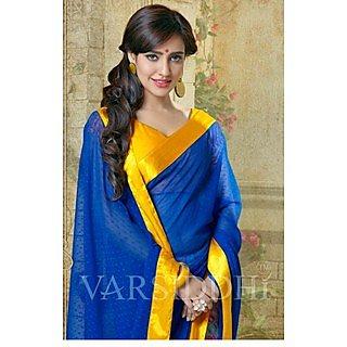 Shop Avenue Blue Chiffon Zari Saree (WGS05051)