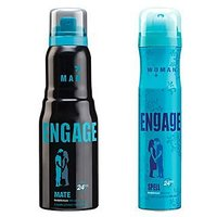Engage Deo (Mate, Spell) Pack Of 2- 165ml Each ( Men Women )