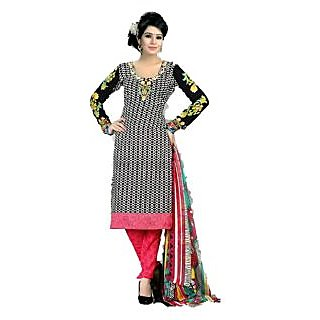 Beautiful Printed Salwar Kameez Crepe Dress Material