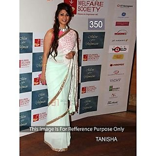 Tanisha White Embroidery Work Fancy Bollywood Saree