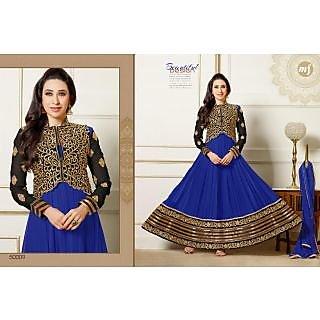 Dks Designer Blue Georgette Dress  Material