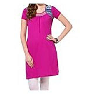 Purple Knitted Cotton Kurti