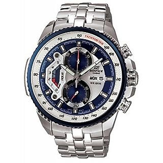 CASIO EDIFICE EF558D-2AV BLUE/WHITE DIAL SPORTS CHRONOGRAPH MENS WRIST WATCH