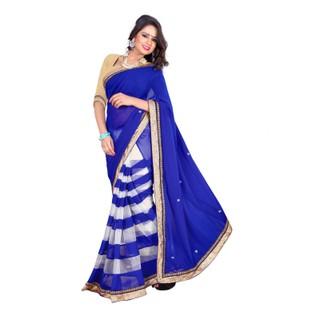 Tiana Blue Colour Designer Saree
