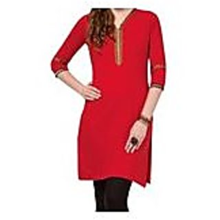 Red Knitted Cotton Kurti