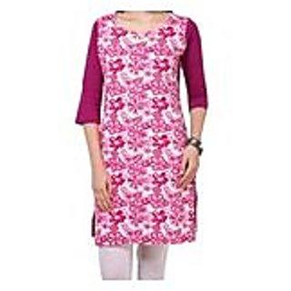 Marvellous Pink Knitted Cotton Kurti