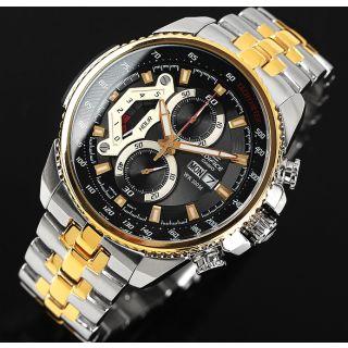Casio Edifice Tachymeter Chronograph Black Dial Men's Watch - EF- 558 SG-1AVDF