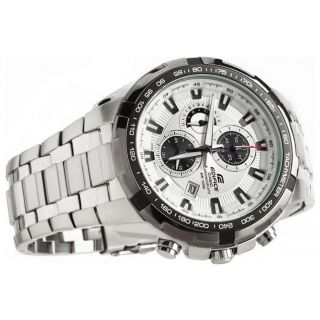 Casio Edifice Tachymeter Chronograph White Dial Men's Watch - EF-539 D-7AVDF