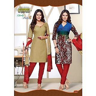 Buy 1 Get 1 Free Top With Red Salwar Cotton Kurti