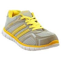 FIZIK Men's Sports Shoe Grey-Yellow ( Zac-3)