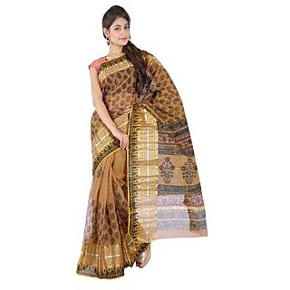 Paisley Print Heavy Zari Border Cotton Doria Saree 240