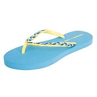 Women's EVA Braided Strap Slippers Blue