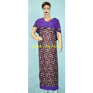 Patiala Phulakri Cotton Overall Suits With Chiffon Dupatta