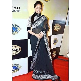 Sridevi Black Beauty Bollywood Replica Saree