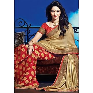 Tamanna Bhatia Bollywood Style Silk And Georgette Saree