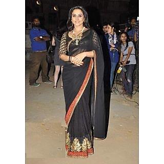 Vidya Balan Black Beauty Bollywood Replica Saree