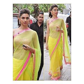 Deepika Padukone Chennai Express Bollywood Replica Saree