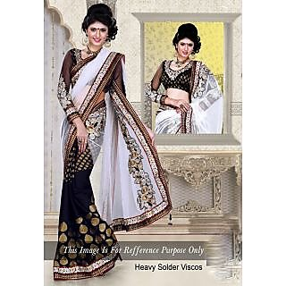Beautiful Black And White Saree