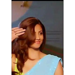 Daisy Shah Jai Ho Sky Blue Bollywood Replica Saree