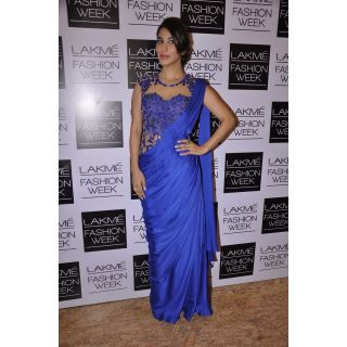 Sophie Choudry Bollywood Style Blue Saree