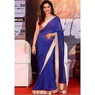 Madhuri Dixit Dedh Ishqiya Bollywood Replica Saree