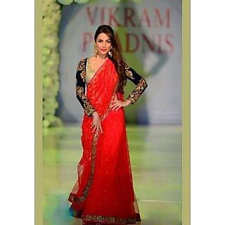 Malaika Arora In Red Hot Designer Saree