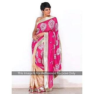 Mandira Bedi Pink And Cream Bollywood Style Saree