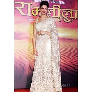 Deepika Padukone Padukone Ramleela Bollywood Replica Saree