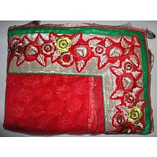 Anushka Sharma White & Red Bollywood Replica Saree