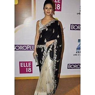 Divyana Tripathi Black Gorgeous Saree