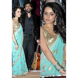 Shraddha Kapoor Light Green Bollywood Replica Saree