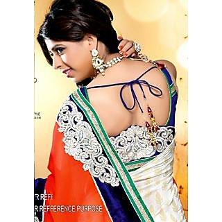 Aishwarya Sakhuja Orange Pallu Saree